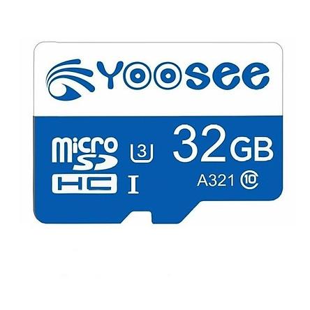 Thẻ nhớ microSDHC Yoosee 32Gb U3 tốc độ cao chuyên dụng cho camera, điện thoại - Hàng chính hãng