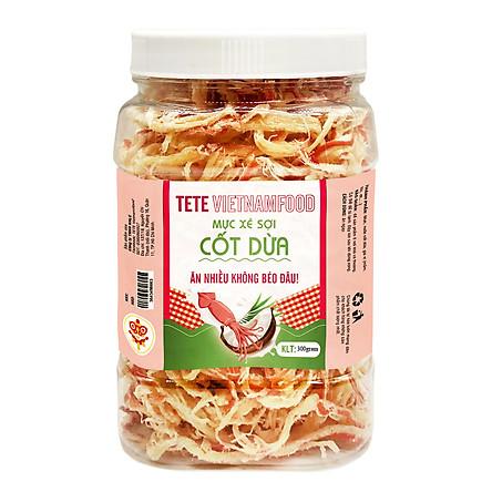 Mực Xé Sợi Nước Cốt Dừa TETE Food 300 gram