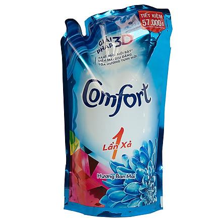 Nước xả vải Comfort một lần xả hương ban mai túi 1.6 lít