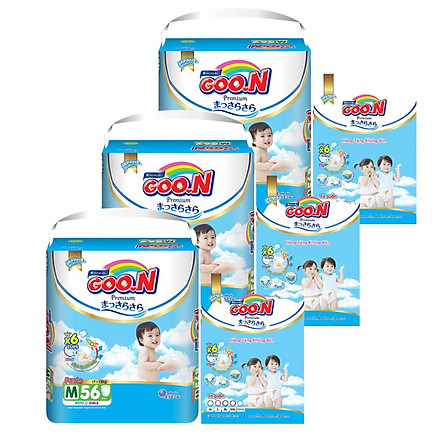 Combo 3 bịch tã quần Goon Premium M56/L46/XL42/XXL36/XXXL26 - Tặng 15 miếng cùng size