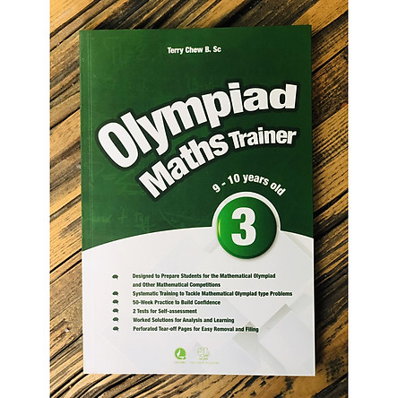 Sách: Olympiad Maths Trainer 3 - dành cho trẻ từ 9 - 10 tuổi