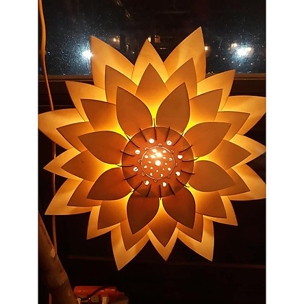 Đèn gỗ trang trí hoa sen - biểu tượng đèn gỗ Việt