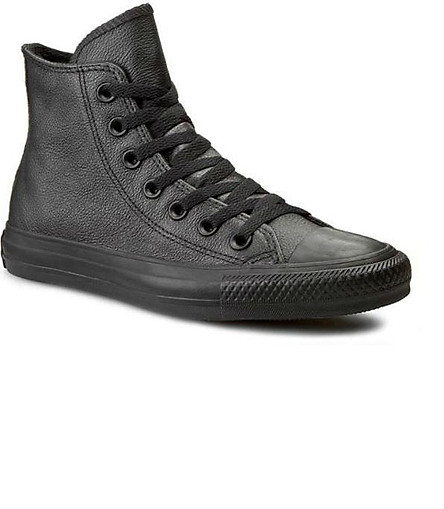 Giày Sneaker Unisex Converse Chuck Taylor Leather Hi - Black