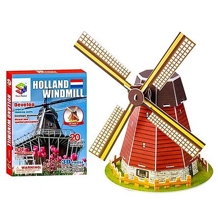 Mô Hình Giấy 3D Magic Puzzle : Cối Xay Gió Hà Lan B668-4 (20 Chi Tiết)