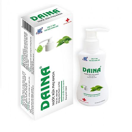 Nước rửa phụ khoa Daina 120ml - Dạng vòi ấn tiện lợi, dùng cho nam và nữ