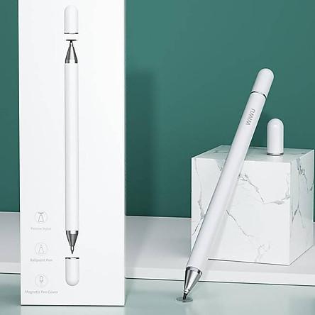 Bút cảm ứng stylus 2 đầu2 in 1 hiệu WIWU Pencil One cho iPad Pro / iPhone / Android / màn hình cảm ứng các loại / Samsung Huawei Oppo Xiaomi Nokia(cảm ứng siêu mượt mà, dung lượng pin cao, thiết kế thời trang) - Hàng nhập khẩu