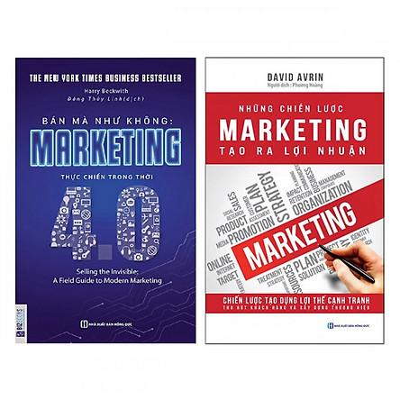 Combo Sách Marketing - Bán Hàng: Bán Mà Như Không Marketing Thực Chiến Trong Thời 4.0 + Những Chiến Lược Marketing Tạo Ra Lợi Nhuận (Tặng kèm Bookmark thiết kế) - Sách Kinh Tế Giúp Bạn Nắm Bắt Cơ Hội, Làm  Giàu Nhanh Chóng