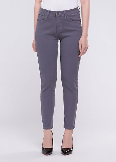 Quần Jeans Nữ Skinny - A91 JEANS LW7 (Xám)