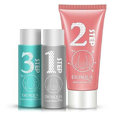 Bộ sản phẩm lột mụn 3 bước Bioaqua