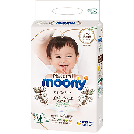 Bỉm dán Moony Natural Size M46