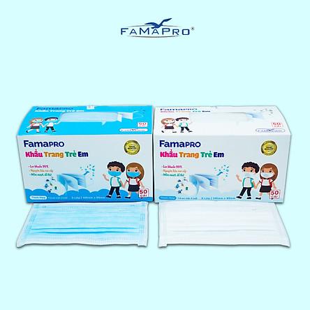 [[ Xuất Khẩu Mỹ ]] - Khẩu Trang Y Tế Cao Cấp FAMAPRO - 3 Lớp Kháng Khuẩn / 99% Lọc Khuẩn, Bụi, Virus Tốt Nhất / Trẻ Em - [ CB1 - MAX KID - HỘP / THÙNG ]