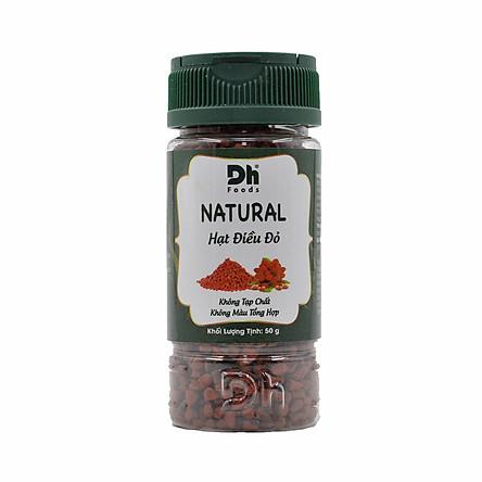 Natural Hạt điều đỏ 50g Dh Foods - Nguyên chất 100%