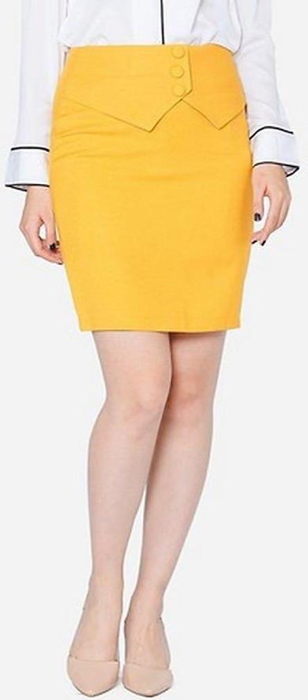 Chân Váy Nữ Công Sở VDS1092VA - Vàng