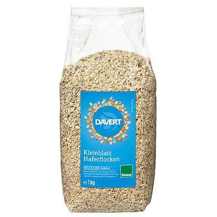 Yến mạch hữu cơ cán dẹt (rolled oats) ăn liền Davert