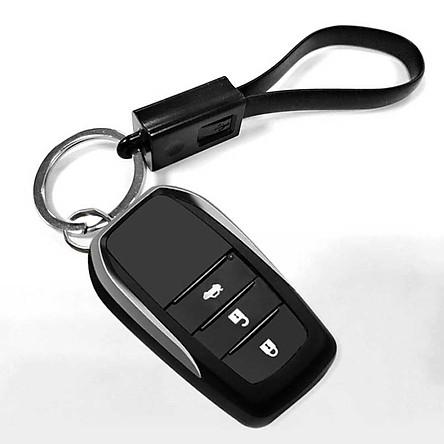 ESCASE car key chain key pendant multi-function creative gift vibrating the same paragraph Apple data cable charging line Bo Yue BMW Ma Zi Da Qi Jun Audi ES-K16 elegant black