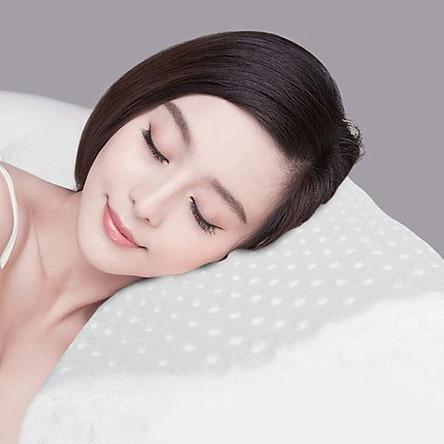 Gối cao su non chống ngáy ngủ và chống đau đổt sống cổ cho người lớn loại tốt -màu ngẫu nhiên
