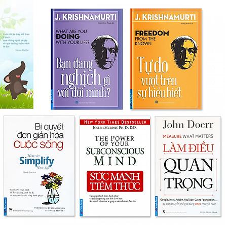 Combo 5 quyển: Sức Mạnh Tiềm Thức, Làm Điều Quan Trọng, Bí Quyết Đơn Giản Hóa Cuộc Sống, Bạn Đang Nghịch Gì Với Đời Mình, Tự Do Vượt Trên Sự Hiểu Biết  (Tặng kèm bookmark danh ngôn hình voi)