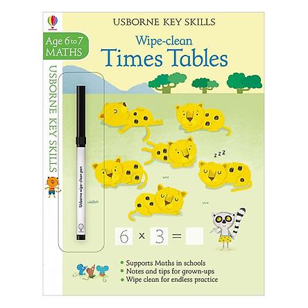 Usborne Usborne Key Skills Wipe-clean Times Tables 6-7