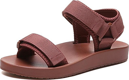 Giày Sandal quai ngang khóa dán phong cách năng động trẻ trung dành cho nữ