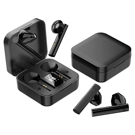 Tai nghe không dây bluetooth tai nghe màn hình Led tai nghe tws true wireless tai nghe không dây âm thanh nổi - Hàng Chính Hãng PKCB