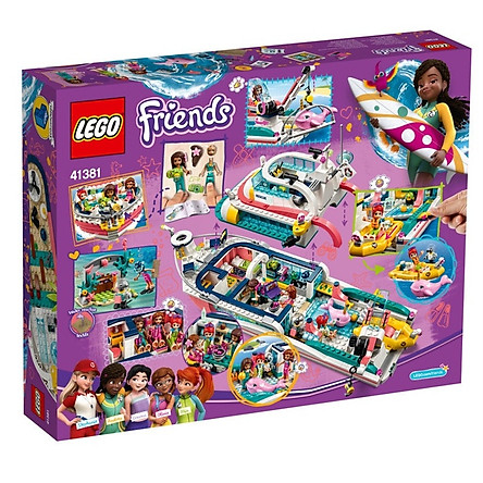 Mô hình đồ chơi lắp ráp LEGO FRIENDS Du Thuyền Giải Cứu Sinh Vật Biển 41381 (908 Chi tiết )