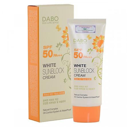 Kem chống nắng dưỡng da tác dụng 8h Hàn Quốc Dabo White Sunblock Cream SPF 50 PA+++ (70ml) - Hàng Chính Hãng