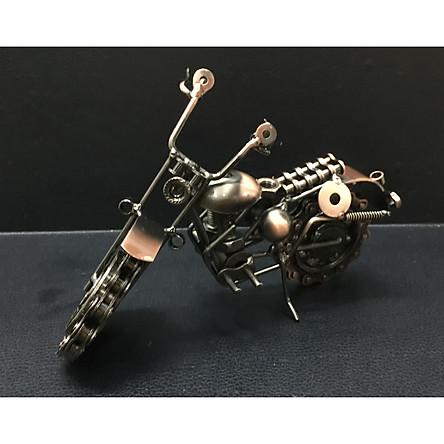Mô hình xe máy độc đáo bằng sắt