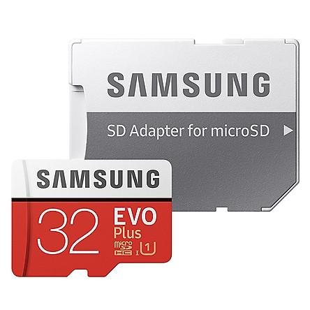 Thẻ Nhớ Micro SD Samsung Evo Plus U1 32GB Class 10 - 95MB/s (Kèm Adapter) - Hàng Chính Hãng