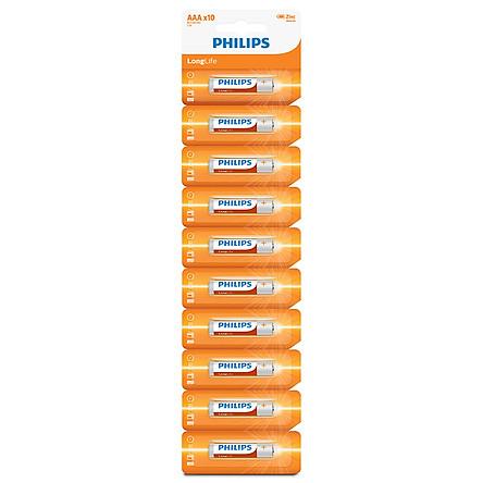 Combo 3 Vỉ - Pin Kẽm Philips AAA R03L10S (30 Viên Pin AAA)