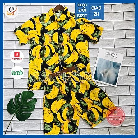 Đồ Trái Cây Đi Biển Cao Cấp - Nguyên Bộ Nam Nữ Trẻ Em - Chất Vải Kate Thái Mát Mẻ (BC)