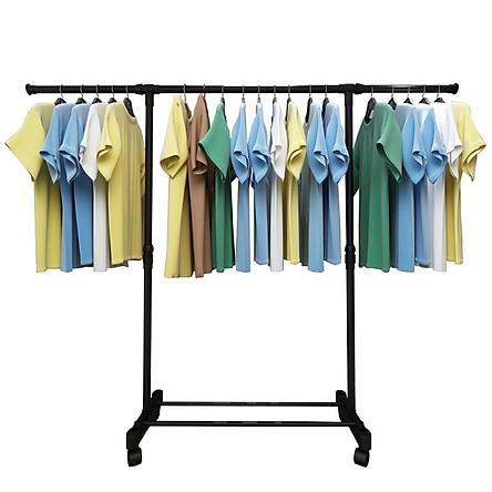 Giá phơi quần áo kép dạng chữ H