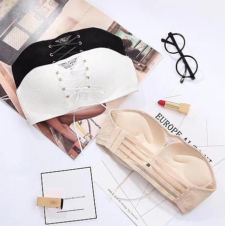 Áo lót nữ không dây, chống tụt quả ngang dây rút siêu đẩy ngực - ZA2008