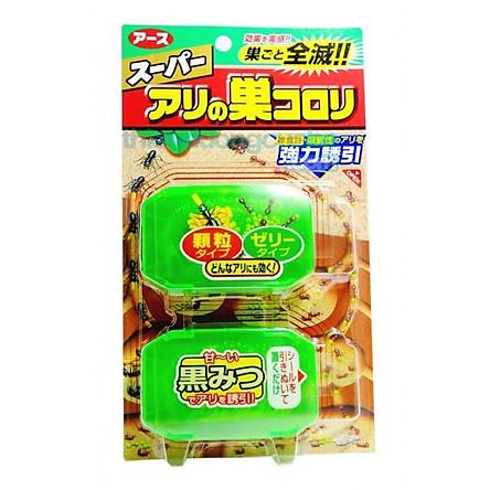 Hộp Diệt Kiến Thông Minh Nhật Bản (2 Hộp) + Tặng Hồng Trà Sữa (Cafe) Maccaca 20g