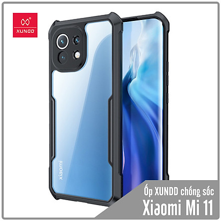 Ốp lưng cho Xiaomi Mi 11 chống sốc trong viền nhựa dẻo Xundd - Hàng nhập khẩu