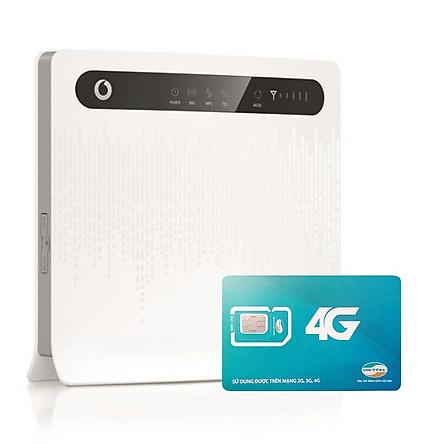 Huawei B593 | Thiết bị phát wifi 3G/4G Chuẩn LTE Tốc Độ Cao+ Sim Viettel 4G Siêu tốc khuyến Mãi 60GB/Tháng - Hàng nhập khẩu
