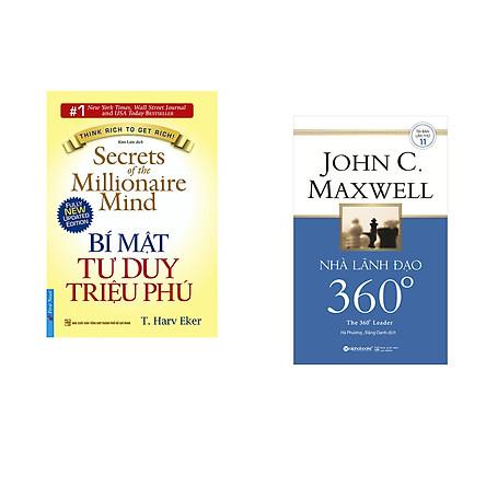 Combo 2 cuốn sách: Bí Mật Tư Duy Triệu Phú + Nhà lãnh đạo 360