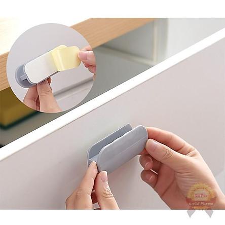 Tay nắm dán cửa kính nhôm inox tủ gỗ hình chữ nhật Decor siêu dính