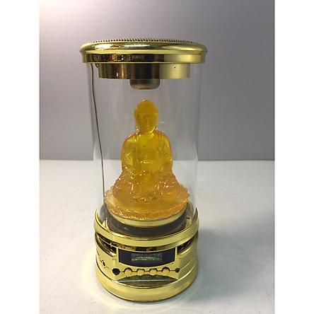 Đài Niệm Phật nghe pháp có tượng Đức Thích Ca chất liệu lưu ly