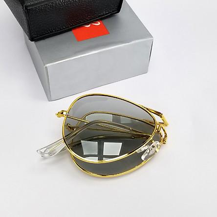 Mắt kính mát nam đổi màu gấp gọn, đi ngày đêm DKYRBGV. Tròng kính Polarized phân cực chống nắng, chống tia UV