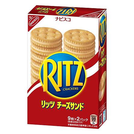 Bánh Quy Mặn Nhân Phô Mai Ritz (160g) - Nhập khẩu Nhật Bản