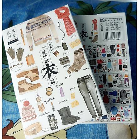 Hộp 36 Post Card Chủ Đề Phong Cách Thời Trang (9.3 x 14.3cm)