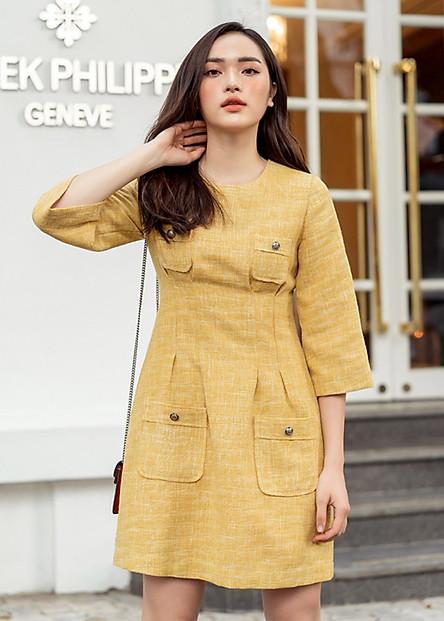 Đầm Tweed 4 Cúc AY1030V