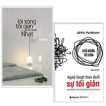 Combo sách tối giản hay : Lối sống tối giản của người Nhật + Nghệ thuật theo đuổi sự tối giản - Tặng kèm bookmark thiết kế