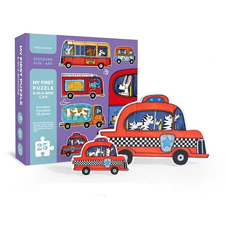 Bộ lắp ghép MiDeer My First Puzzle 6 In A Box - Car 2+