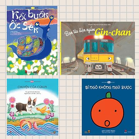 """Combo 4 cuốn Ehon - Bé Thủ Thỉ - Series những câu chuyện giàu """"tình cảm"""" và """"tâm sự"""" của các bé."""