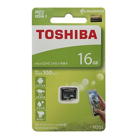 Thẻ nhớ MicroSD TOSHIBA 64Gb / 32Gb / 16G Class10 chuyên dùng cho camera ip, điện thoại, máy tính (màu ngẫu nhiên) - hàng nhập khẩu
