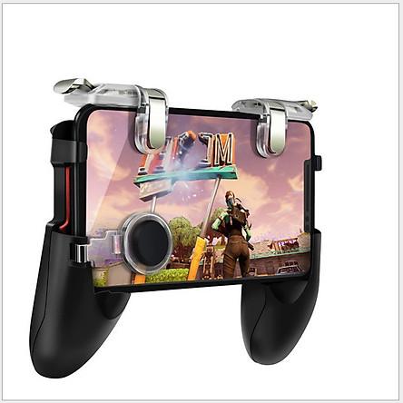 Tay Cầm chơi GAME + Nút bấm kép chơi PUBG 5in 1 Thế Hệ Mới Nhất