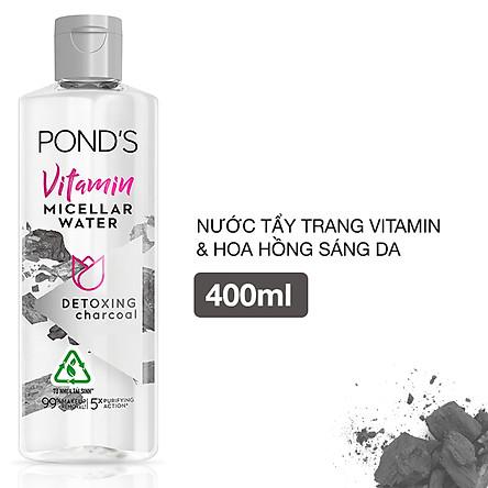 Nước Tẩy Trang Vitamin Và Tinh Than Tre Sạch Sâu  Pond's Micellar Water