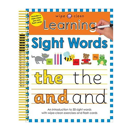 Learning Sight Words: Wipe Clean Spirals (Paperback)