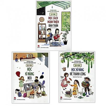 Combo 3 Cuốn Sách Kỹ Năng Vàng Cho Học Sinh Trung Học - Học Cách Hoàn Thiện Bản Thân + Học Kỹ Năng Nói + Học Kỹ Năng Để Thành Công (Phát Triển Kỹ Năng Mềm  Kỹ Năng Giao Tiếp Cho Thiếu Niên)